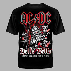 "ФУТБОЛКА ""AC/DC"" КОЛОКОЛ"