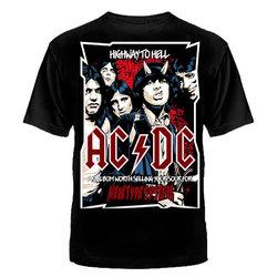 """ФУТБОЛКА """"AC/DC"""" ПЛАКАТ - ГРУППА"""