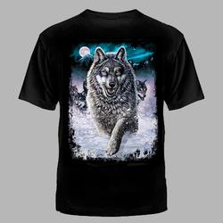 "Футболка №1065 "" Волк в снегу"""