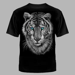 """Футболка №1087 """" Тигр с голубыми глазами"""""""