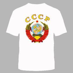 """ФУТБОЛКА """"СССР"""" БЕЛАЯ"""