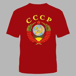"""Футболка батал №216 """"СССР"""" красная"""