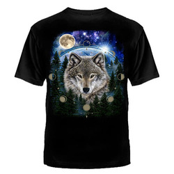 """Футболка """"Волк и фазы луны"""""""